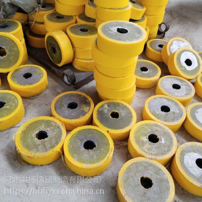 生产供应 耐磨聚氨酯包胶轮 PU包胶轮 铁件包聚氨酯轮
