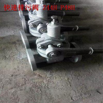 洛阳市排污阀 Z44H-16C/25C 国标手动快速排污阀厂家 价格 DN200