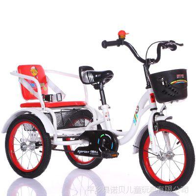 雅士弟新款儿童三轮车自行车3-5-6岁带斗小孩双人脚踏车男女宝宝