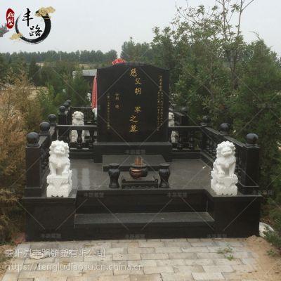 厂家直销中国黑墓碑组合墓地祭祀豪华型家族碑摆件