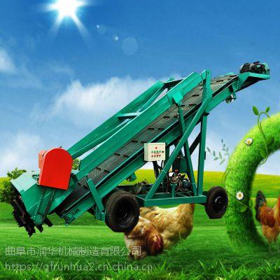 热卖大型自走式青贮取料机 润华牧草撒料车 牛场专用青贮取草机