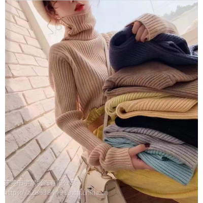 资阳便宜女装针织衫圆领毛衣清货库存服装加厚高领毛衣打底衫清货10元以下