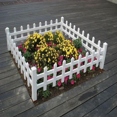 小区草坪围栏厂家 德兰现货白色花园草坪隔离PVC护栏 可定做
