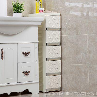 jsh洗手间零食特大卫生化妆品小型衣柜复古室外储蓄箱夹缝收纳柜