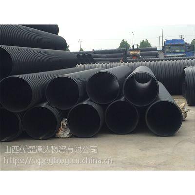 山西忻州钢带管学名叫作钢带增强螺纹波纹管环刚度更高