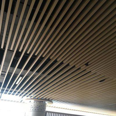 热销木纹天花吊顶 U型铝方通 U槽铝方通