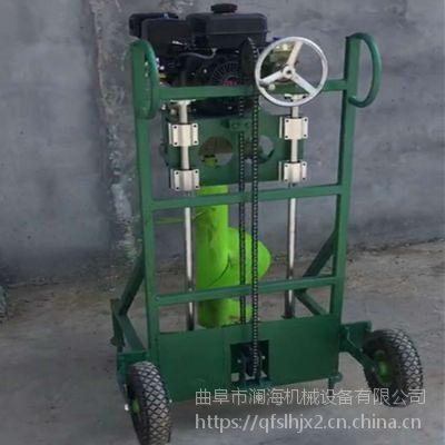 手提式园林种树汽油钻眼机 拖拉机带动电线杆钻坑汽油式挖坑机