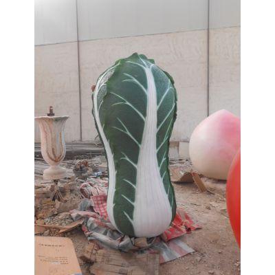 玻璃钢彩绘树脂白菜雕塑仿真水果蔬菜雕塑公园摆件