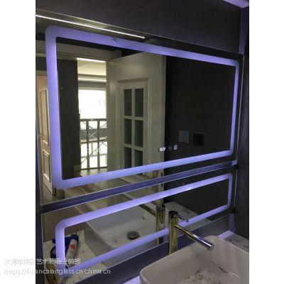 内蒙包头厂家定制 星级酒店宾馆别墅高端智能镜子 带灯镜子