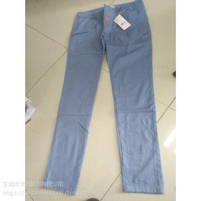 东莞哪里有几块钱一条的外贸女装裤子批发库存便宜女装裤子处理