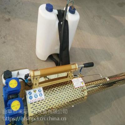 双管手提打药喷烟机农用汽油弥雾机 远程果树喷雾机