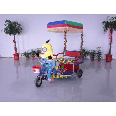 机器人蹬车双人儿童电动玩具广场公园三轮电瓶车黄包车郑奥厂家直销