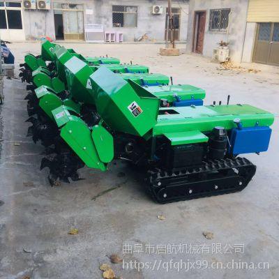农家土杂肥施肥机 启航柴油35马力松土机 安徽自动果树覆土机型号