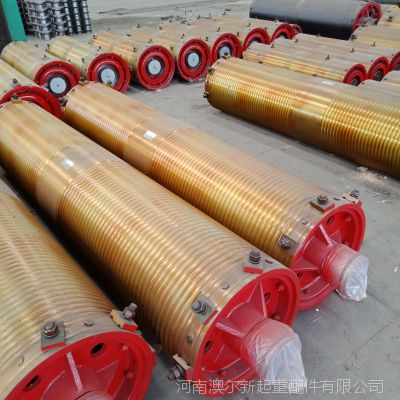 厂家直供Φ500行车起升卷筒组 钢板卷制 起重机龙门吊配件卷筒组
