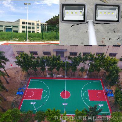 贵州运动场照明led灯杆 篮球场6米灯柱 热镀锌篮球场照明led灯