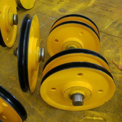 门吊滑轮组 动定滑轮 锻件焊接轮 澳尔新50吨加厚定制