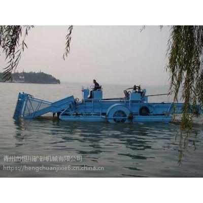 河流清理垃圾 快速割断水草收集船