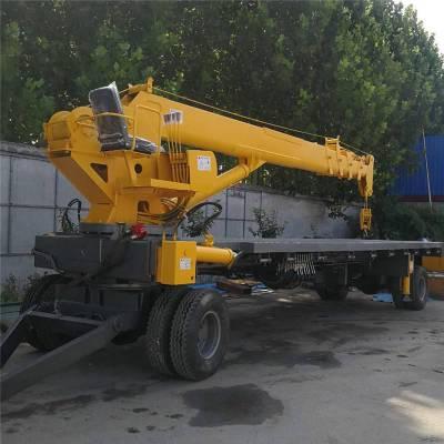 拖拉机平板吊+自制平板随车吊+牵引车图片型号齐全