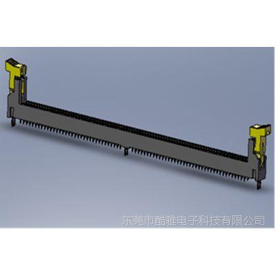 LOTES DDR4 PRESS FIT Connector 军工内存插槽 鱼眼式 免焊插槽