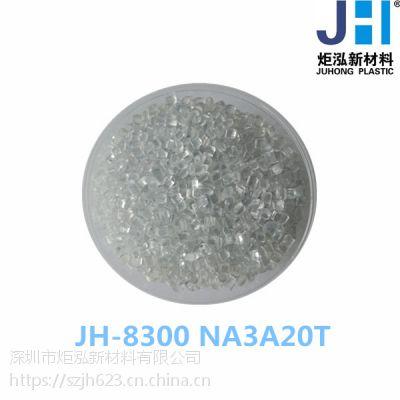 标准料 PC+PET JH-8300NA3A20T 性能:紫外线稳定 耐候抗UV 透明
