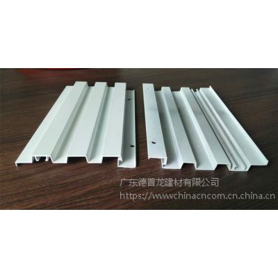 铝板门头装饰长城板-木纹波浪形铝板厂家定制