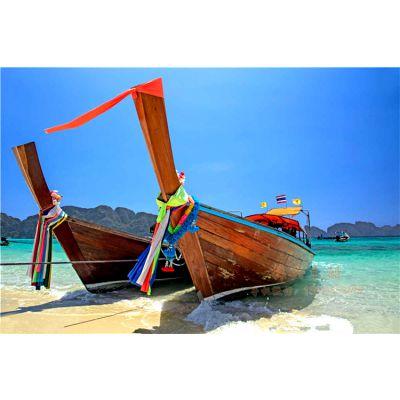 7m泰国象鼻船 高档欧式手划木船 一头尖欧式观光木船 梓兴制造