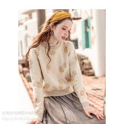 东莞时尚流行库存杂款韩版女式加厚毛衣批发