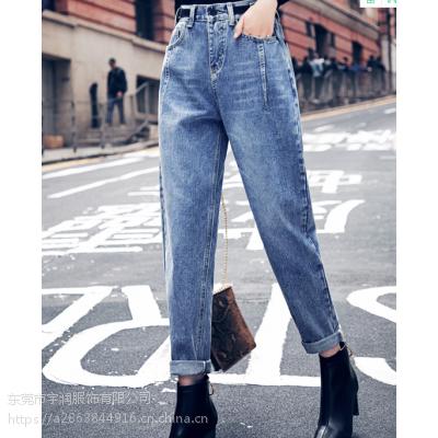 广州便宜女装牛仔裤清货便宜女士小脚裤九分裤清货低价清货清货