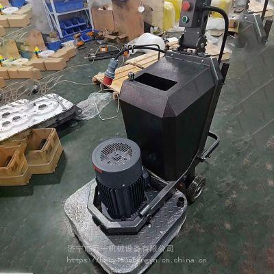 百一固化剂地坪4盘12头630型带水箱手推式打磨机对转式研磨翻新机厂
