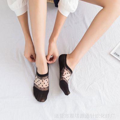 春夏季新款透气卡丝袜浅口硅胶防滑袜子女网眼短袜现货批发