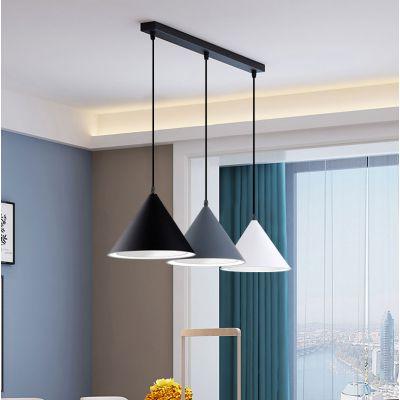 幻電三头餐厅吊灯现代简约北欧创意温馨餐厅咖啡厅灯具