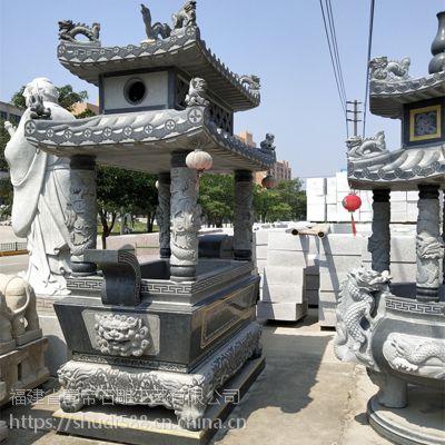 直销仿古大型青石石雕寺庙宗教祭祀供奉香炉鼎雕塑工艺品摆件定制