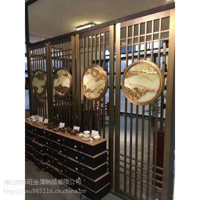 中式屏风隔断墙卧室玄关现代客厅酒店餐厅 栅栏顶天立地座屏定制