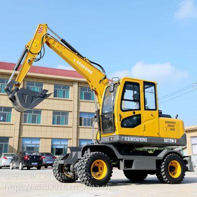 供应轮式挖机多少钱一台 山鼎75轮式抓木机品牌