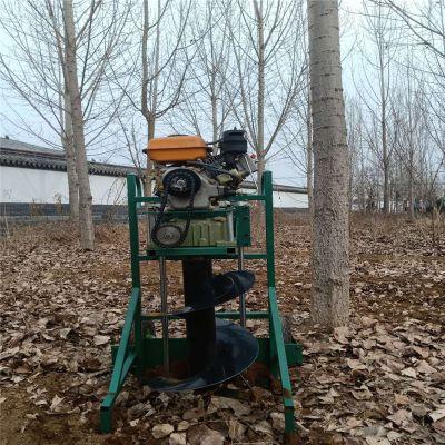 手推硬地沙土打洞机 启航牌新款苗木种植挖坑机 黑龙江便携式大马力钻眼机