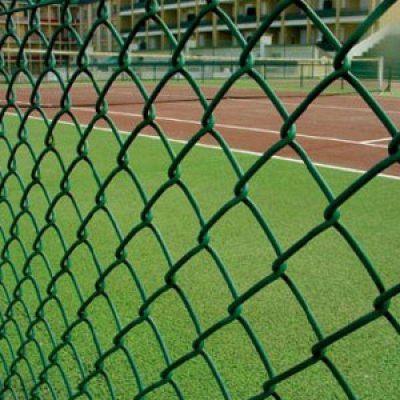 羽毛球场护网 勾花铁丝网 网球场围挡网