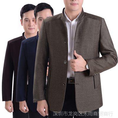 春秋装男士夹克外套40-50岁中年男装夹克衫休闲上衣男爸爸装外衣