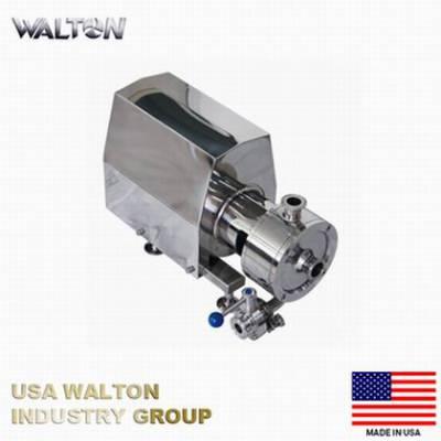 进口卫生级乳化泵 304不锈钢管线式高剪切分散乳化泵 美国WALTON沃尔顿