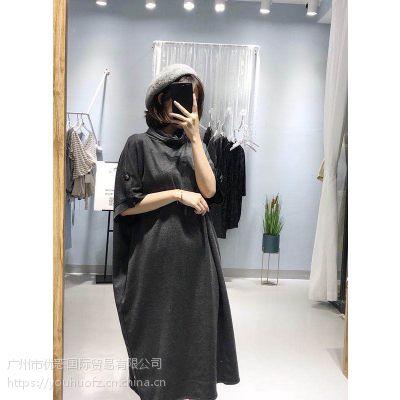 深圳原创品牌女缇秋装连衣裙折扣批发女装货源