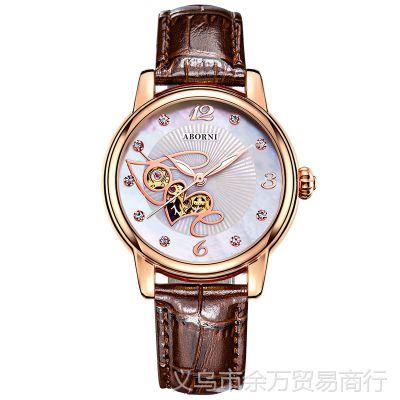 瑞士进口全自动防水机械表 韩版时尚镶钻手表 高档夜光女士手表