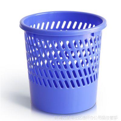 得力垃圾筒9553 客厅厨房家用 卫生间厕所垃圾桶 无盖大号 废纸篓