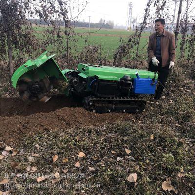 出肥料调节施肥机 自动刨坑上肥开沟机 机身宽一米履带开沟机