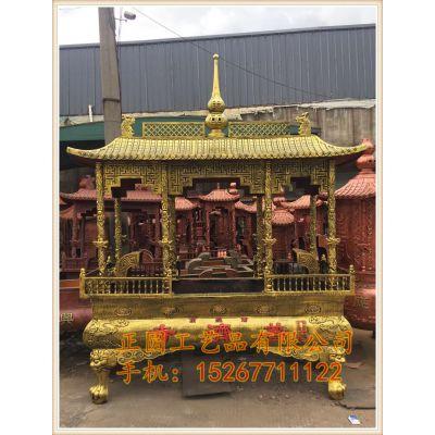 正圆法器供应寺庙圆形香炉 寺院长方形铸铁香炉定做生产厂家