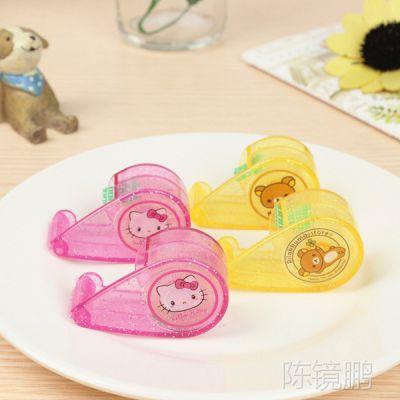 卡通胶纸座  Hello Kitty/轻松熊卡通迷你透明胶台 儿童手工用品