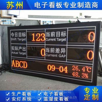 苏州琳卡车间生产显示屏计数器工厂管理生产车间LED电子看板