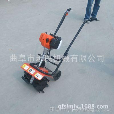 菜园小型微耕机 手推式二冲程旋地机 轻便家用型旋耕机
