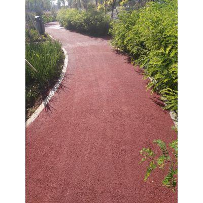 生态透水砼地坪 彩色防滑沥青透水路面 库车彩色透水地坪