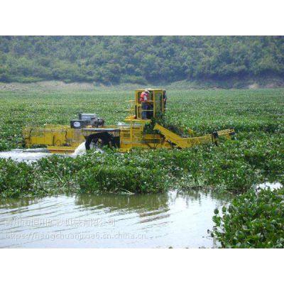 水葫芦危害清除方法 河南江面去除水草船