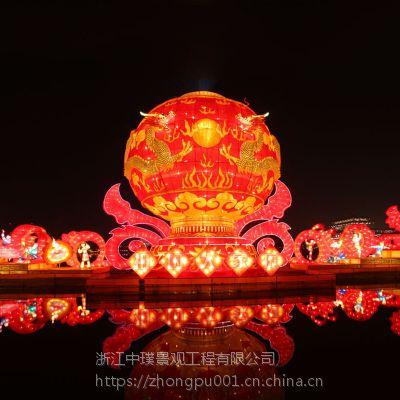 大型节日花灯生产厂家元宵节灯会彩灯设计制作春节花灯