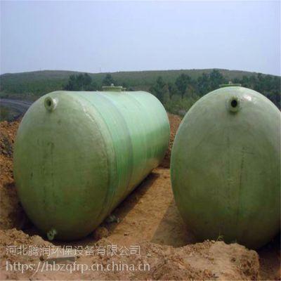 玻璃钢消防水池 整体缠绕式100立方储水池 地埋式水箱 储水罐 腾润环保
